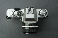 1972 Nikkormat EL (Arne Kuilman) Tags: 1972 nikon nikkormat nikkormatel slr classic retro camera filmcamera top bovenzijde topcase