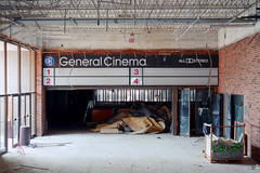 The Show Must Not Go On ([jonrev]) Tags: abandoned deerbrook mall deerfield illinois demolition demolished gutted stripped bare empty general cinema quad four screen movie theater theatre closed shuttered dead urban exploring urbex