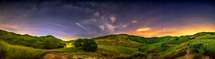 Milky Way Panorama 2 (stuanderson7) Tags: dreamscape arch landscape nature mountains outdoor panorama trees vibrant sonya6000 california sky clouds nightscape stars hills samyang12mmf2 lightpollution longexposure milkyway