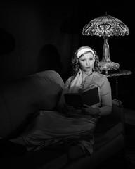 750_5193-Edit-1 (TomPitta) Tags: monochrome woman girl book reading moody