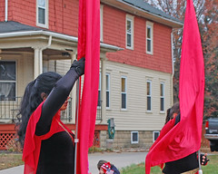 Two red banners (fotophotow) Tags: collingswood camdencounty nj newjersey