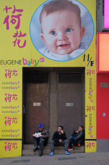 """oh baby"" (hugo poon - one day in my life) Tags: xt2 50mm hongkong central daguilarstreet three sign colours baby companions break"