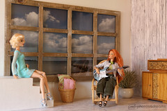 play a little tune for me (photos4dreams) Tags: dolls27042017p4d dress barbie mattel doll toy photos4dreams p4d photos4dreamz barbies girl play fashion fashionistas outfit kleider mode puppenstube tabletopphotography helenabonhamcarter ooak oneofakind upgrade dolldesigner design custom repaint puppe red rot readhead long hair lange haare kayla morgaine