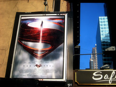 Man of Steel - New Superman Billboard theater Poster 0327 (Brechtbug) Tags: street new york city nyc blue red man work dark comics painting movie poster square book dc paint theater comic near steel character alien bat working broadway s superman billboard advertisement adventure hero superhero billboards knight worker shield times insignia krypton 46th 2013