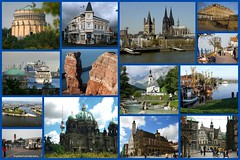 Welcome to Germany (EnDie1) Tags: berlin collage germany deutschland hamburg kln bremen rothenburg koblenz kelheim brhl cuxhaven helgoland ramsau bsum greetsiel probstei endie1