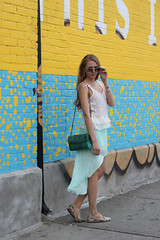 white top chiffon mint skirt (Natalie Ast) Tags: toronto west green car fashion vintage shopping this graffiti frozen is blog downtown paradise purple district mint style skirt blogger canadian queen purse clutch accessories yogurt zara snakeskin froyo yogurtys