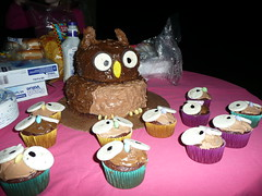 Owl Cake (jeanbohio) Tags: cake birthdaycake owl decorated