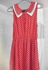 35/365 (MeganRosalyn*) Tags: red color vintage clothing dress wear clothes 365 polkadot 365project