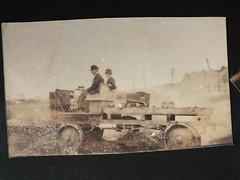 1916 Kenosha, Wisconsin  USA all terrain vehicle 2 (Robin Hutton) Tags: trip family usa wisconsin america george demonstration ancestor photograph vehicle ruth hutton kenosha 1916 allterrain robinhuttonart
