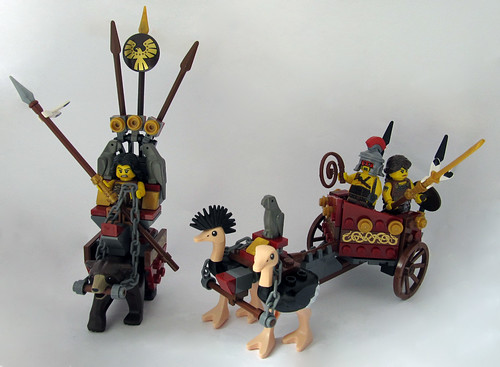 Ostrich Chariot and Bear