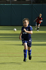Training (pollylew) Tags: boy football running grandson