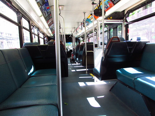 King County Metro 2001 Gillig Phantom Trolley interior (4108)