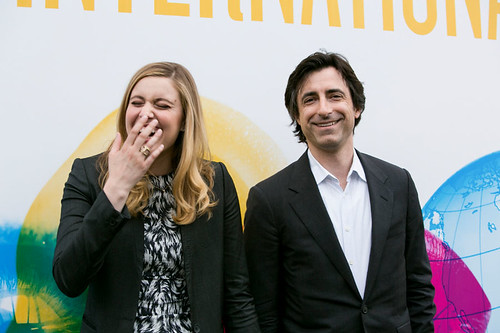 Noah Baumbach and Greta Gerwig outside the Filmhouse before a screening of their film, Frances Ha