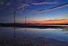 ripples of sand (Thunderbolt_TW) Tags: sunset sea sky sun reflection water windmill canon landscape taiwan 夕陽 台灣 日落 風景 windturbine 彰化 changhua 風車 彰濱 西濱 肉粽角 彰濱工業區 風景攝影 hsienhsi 線西 5d2 changpingindustryarea