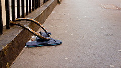 Security (NeilllP) Tags: bike security chain flip footware secure stolen flop steal
