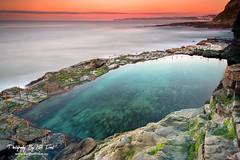 Newcastle Bogie Hole (Kiall Frost) Tags: ocean sky colour water pool rock clouds sunrise newcastle print photo nikon image australia clear baths nsw bogiehole kiallfrost d800e