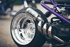 AutoMass custom Ruckus (Joey Gessner) Tags: chicago japan metal race honda track slow purple low chrome exhaust drift ruckus stance
