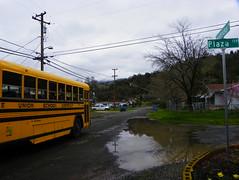 School Bus (kevin42135) Tags: california blue school lake bus bird high all upper american 80s re lucerne
