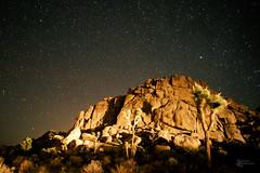 The Rock and the Headlights (lokanuvat) Tags: california sky stars rocks desert joshuatree