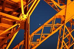Tour Eiffel (O.Ortelpa) Tags: voyage travel orange paris france tower tourism by night la europe tour sightseeing eiffel bleu et nuit tourisme