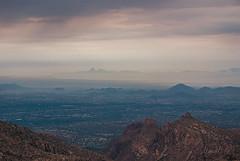 Tucson Overview (Mary Adrenaline) Tags: city travel arizona sky mountains sunrise outdoors scenery desert tucson cloudy horizon naturallight august peaks overview mountlemmon 2013 pentaxk10d maryadart