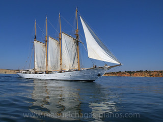 Creoula, sailing near Lagos, Portugal