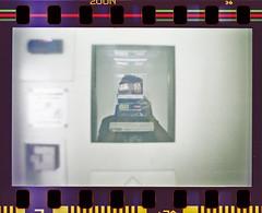 Self portrait in a Photo cabin (Italian Film Photography) Tags: portrait slr film self cabin minolta cabina 200 vista autoritratto analogue analogica x700 c41 pellicola fototessere tetenal agfaphoto colortec