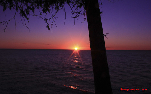 sunset lake wisconsin landscape scenic
