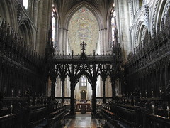 The choir facing west, Ely Cathedral, Ely, Cambridgeshire, England (Hunky Punk) Tags: uk england architecture gothic churches cathedrals medieval norman ely romanesque middleages cambridgeshire screens choirs naves hunkypunk spencermeans