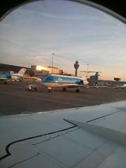 KLM Royal Dutch Airlines Flight KL 1984 Basel Mulhouse Euro Airport (BSL) - Amsterdam (AMS) (Fokker 70 - PH-WXD) (Loeffle) Tags: france netherlands amsterdam frankreich flight nederland basel klm kl schiphol ams bsl niederlande fokker euroairport mulhouse flug fokker70 102013 kl1984