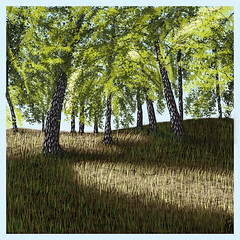 15.5muchomurkyRGBSmall (FM08) Tags: trees light tree forest quiet atmosphere calm digitalpainting bigcalm gentle quietatmosphere