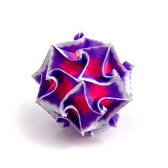 Liqueur (_Ekaterina) Tags: square origami violet modular modularorigami kusudama unitorigami kusudamaorigami lukasheva ekaterinalukasheva multimodular