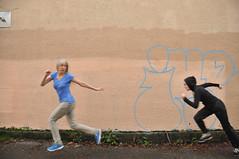 Giving Chase (eddi_monsoon) Tags: portrait selfportrait self 365 clone selfie threesixtyfive