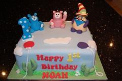 Hungry Henry, Billy & Bambam (Victorious_Sponge) Tags: birthday cake 1st henry billy hungry bambam