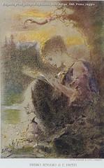 Eugenio Prati Litografia Strenna Alto Adige 1905 Primo raggio