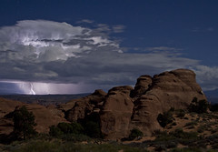 Lightning storm in Arches National Park, UT (Kimberly Quintano) Tags: storm weather utah ut arches lightning archesnationalpark