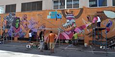 SPRAYSOUNDgen2 (kram_bcn) Tags: streetart wall graffiti saturno mataro eledu kram turkesa spraysound