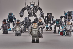 The Brute Force (Hammerstein NWC) Tags: robot amazing lego space galaxy ama squad custom armory drones kreo cooperworks brickarms brickwarriors dronuary