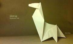 Horse (variation) (Laangen) Tags: horse berg caballo cheval origami rainer papier cavallo pferd variation yeh 馬 лошадь حصان raymaond laangen