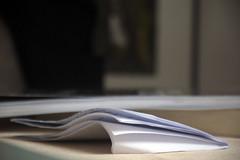 Le mot  Paris, 3 fvrier 2014 (Stphane Bily) Tags: paris paper papier feuille stphanebily
