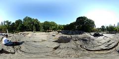 Rat Rock in Central Park - New York (Cristian Marchi) Tags: panorama newyork rock rat centralpark manhattan pano 360x180 umpire schist hugin equirectangular 360cities equirettangolare scisto