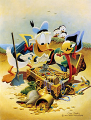 Pirate Gold (Tom Simpson) Tags: illustration vintage comics treasure disney pirate treasurechest carlbarks pirategold