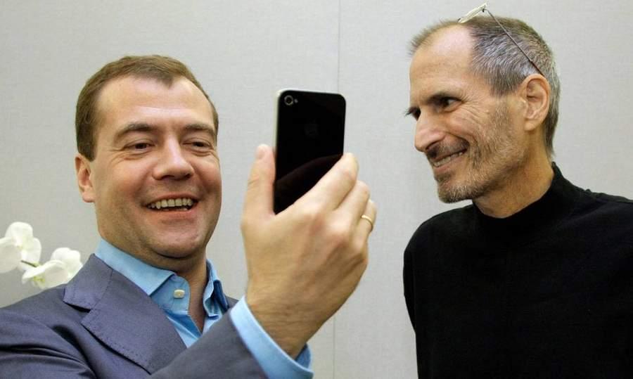 Медведев и Джобс. Фото Рустема Адагамова