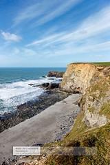 North Coast of Cornwall just west of Portreath (doublejeopardy) Tags: blue sea sky cliff beach coast spring cornwall portreath