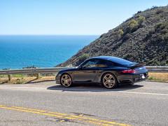 2009 Porsche 911 Turbo (cjcam) Tags: 911turbo 997 997tt car malibu porsche beach black california coast sportscar 6mt 911 9971 awd cynrokt mezger aircooled boxer coupe flatsix heritage luftgekuhlt turbo