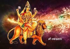 Maa Durga's incarnation as SkandaMata is worshiped on Fifth day of Navratri (JaiMadaan) Tags: navratri skandamata jaimadaan