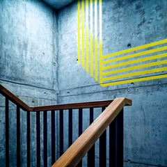 my city - welle 7 #3 (dan.boss) Tags: minimal stairs staircase banister concrete switzerland canong7x welle7 bern