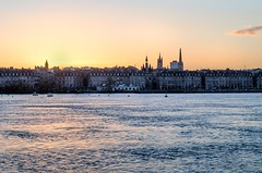 beautiful day (Valentino Belloni) Tags: bordeaux sunset city water cityscape france nikon nikond5100