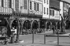 Mirepoix place aux couverts. (ChristianLeduc) Tags: 09 2017 ariége bastide france hiver midipyrénées mirepoix occitanie