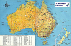 Australian Airlines route map, 1986 (airbus777) Tags: australianairlines routemap 1986 taa qantas transaustraliaairlines network diagram